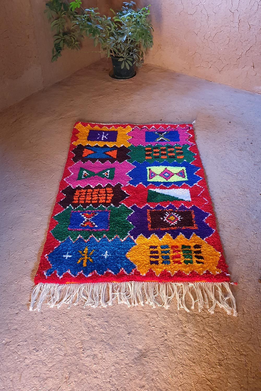Regenbogen Berberteppich
