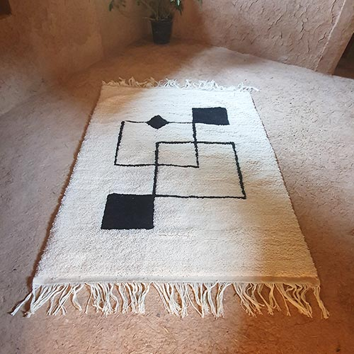 Berber carpet with modern patterns