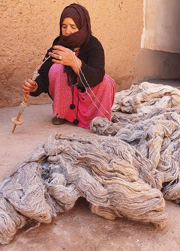 La préparation de la laine