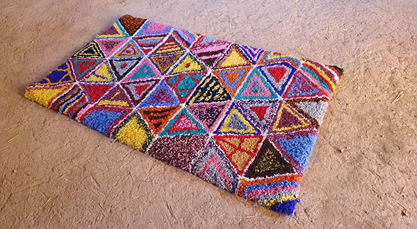 Berberteppich Dreiecke